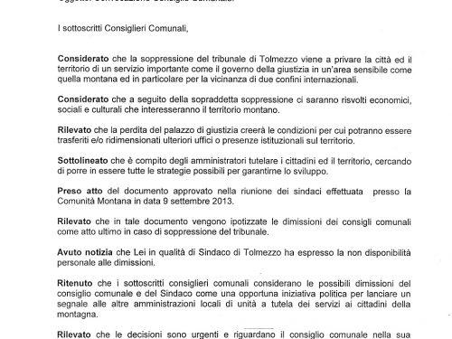Tolmezzo: chiude il Tribunale, l'amarezza di una protesta inascoltata, la Carnia verso un ulteriore declino?