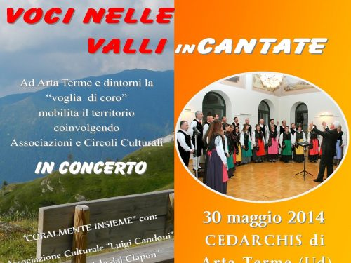 """Cedarchis: il coro Peresson in concerto """"Voci nelle valli incantate"""""""