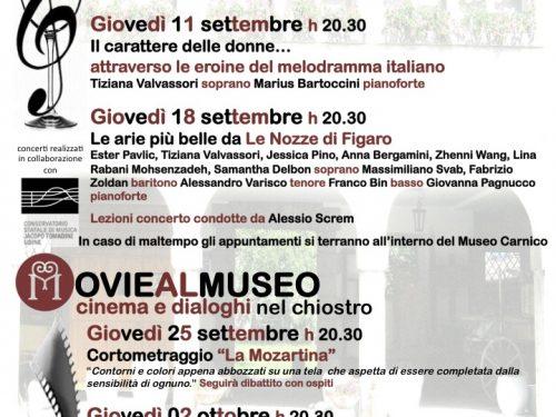 Tolmezzo: Music&Movie al Museo Carnico, aperitivi musicali, cinema e dialoghi all'aperto  i giovedì