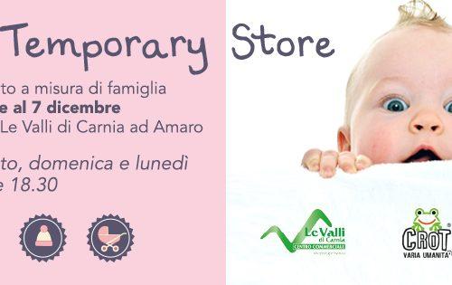 Alto Friuli: Baby Temporary Store, al via il 20 ottobre la prima raccolta merce in Carnia