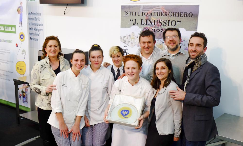 """Tolmezzo: l'Isis Linussio di Tolmezzo ha vinto il 1° concorso di cucina """"Aqua in bocca"""""""