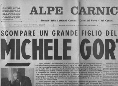 Michele Gortani: il suo 'Saluto agli emigranti' e la notizia della sua scomparsa sui giornali locali