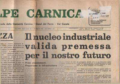 Tolmezzo: la nascita zona industriale nell'intervista a Tiziano Dalla Marta su 'Alpe Carnica'  del 1966