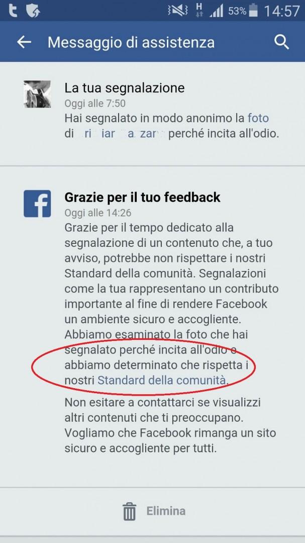 """Aldo Rossi: secondo Facebook le bestemmie rispetterebbero gli """"standard della comunità"""" (poi hanno rimosso)"""